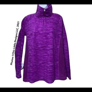Columbia Fleece Long Sleeved Pull Over Zip Up XL